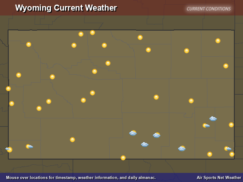 Wyoming Weather Map
