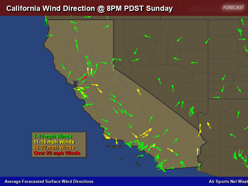California Wind Direction Forecast Map