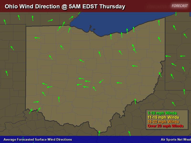 Ohio Wind Direction Forecast Map