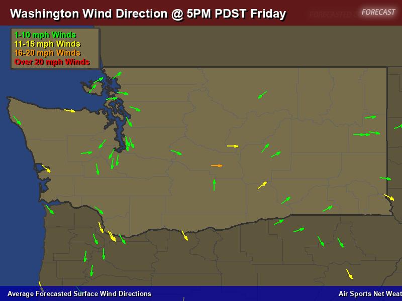Washington Wind Direction Forecast Map