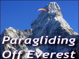 Paragliding off Everest
