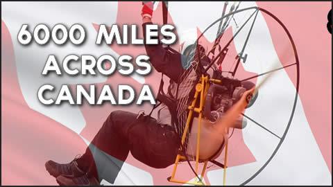 Powered Paramotor Flies Across Canada