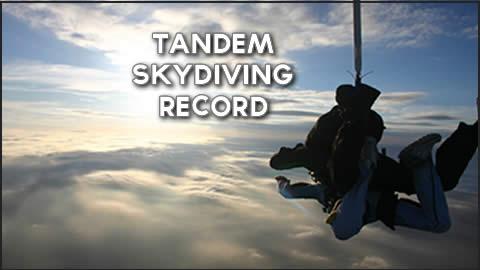 Tandem Skydiving Record