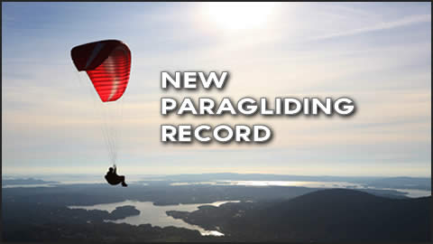 Nate Scales Paragliding Record