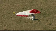 Felix drops to his knees after landing