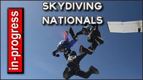 Skydiving Nationals in Progress