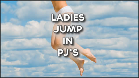Ladies Skydive in Underwear