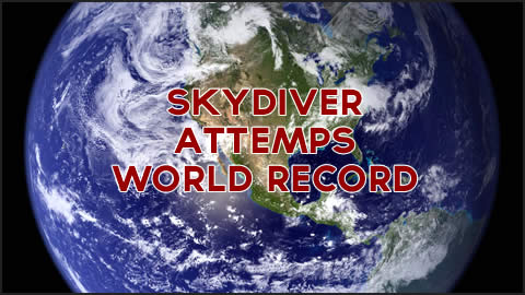 Skyidver attempts world record by breaking boards