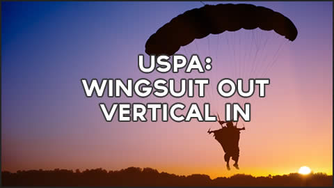 USPA Wingsuit Out Vertical In