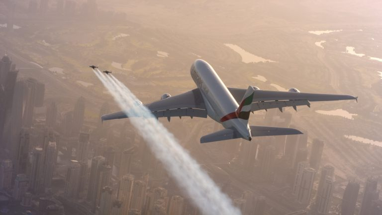 Jetman Flies with Airbus A380