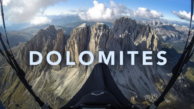 Amazing day in the Dolomites
