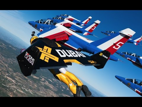 Jetman Formation Flying with French Air Force Aerobatic Team