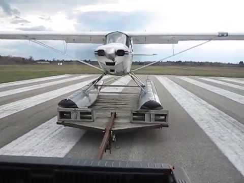 Float Plane has Unique Approach to Taking Off