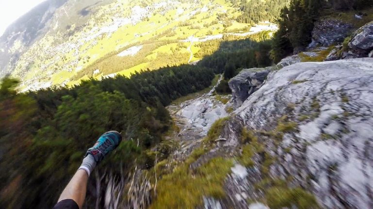 Speed Flying in the Swiss Alps