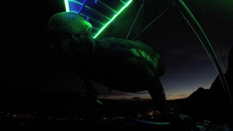 Hang Gliding at Night