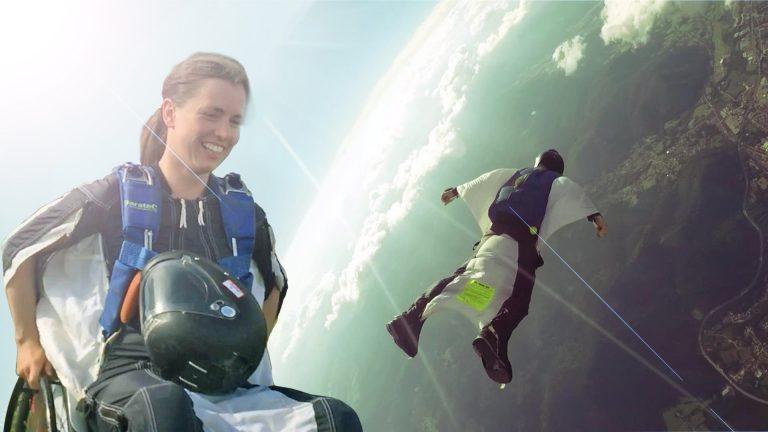 Paraplegic woman Flies Wingsuit Again