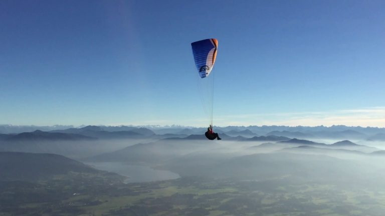 Paragliding Drop from Hot Air Balloon