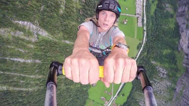 Rope Swing from Paraglider