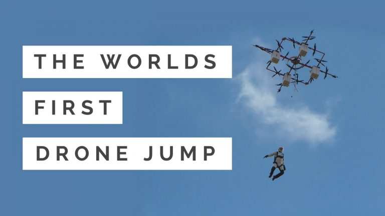 Base Jumping from a Drone