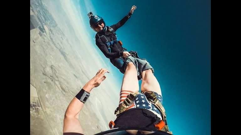 Skydiver Gets Pants Pulled Off