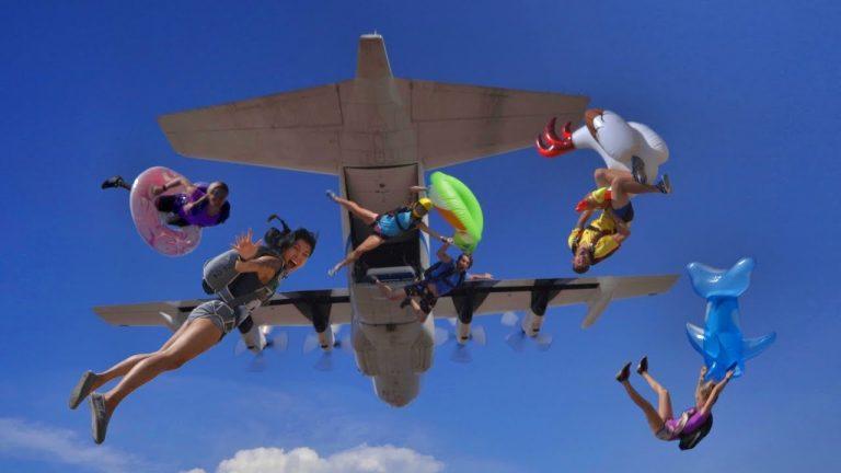 Slip 'n Slide Skydive