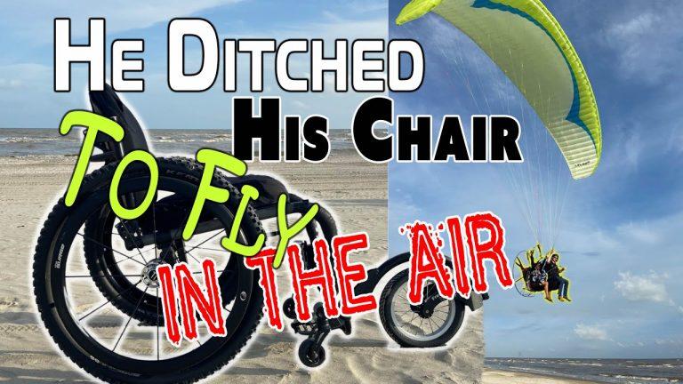 Paralyzed Man Flies on Paramotor