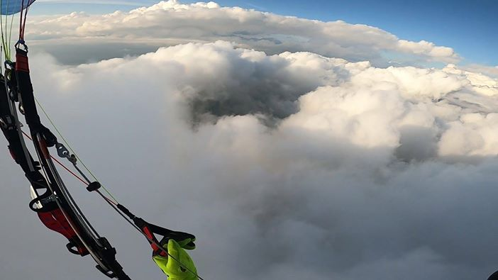 Cloud Surfing on a Paramotor in Slovenia