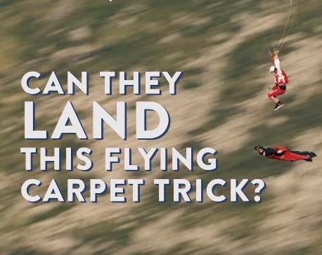 Flying Carpet Trick – Wingsuit & Canopy Pilot
