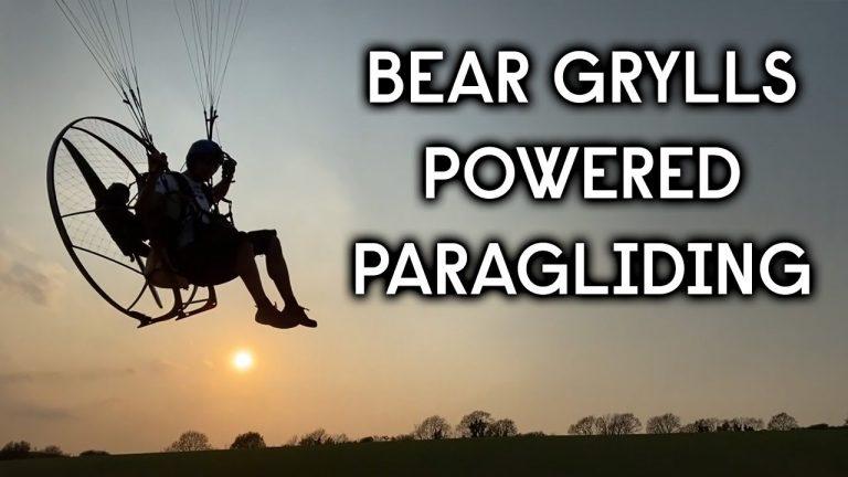 Bear Grylls Goes Powered Paragliding
